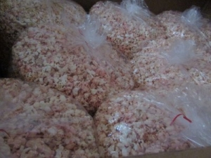 PALLET OF WILD CHERRY BOMB CANDIED POPCORN